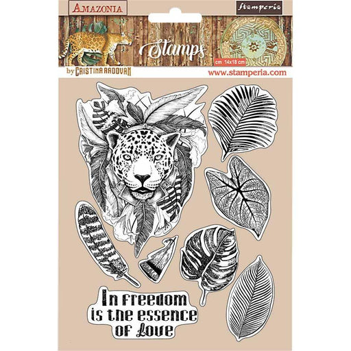 "Stamperia Amazonia 5.5""x7"" Cling Rubber Stamp: Jaguar (WTKCC192)-Only One Life Creations"