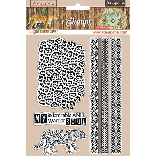 "Stamperia Amazonia 5.5""x7"" Cling Rubber Stamp: Tribals (WTKCC191)-Only One Life Creations"