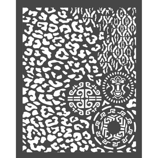 "Stamperia Amazonia 8""x10"" Stencil: Animalier With Tribals (KSTD062)-Only One Life Creations"