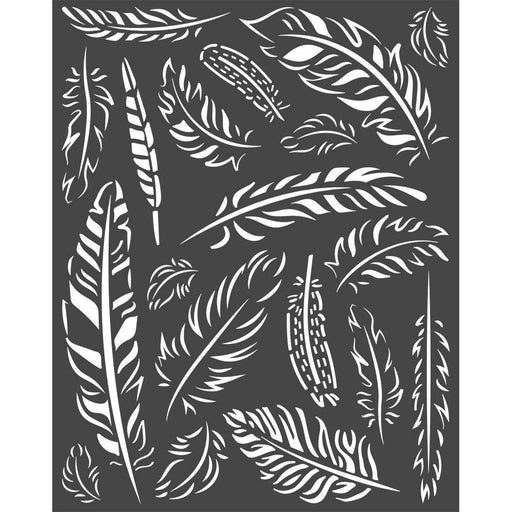 "Stamperia Amazonia 8""x10"" Stencil: Feathers (KSTD066)-Only One Life Creations"