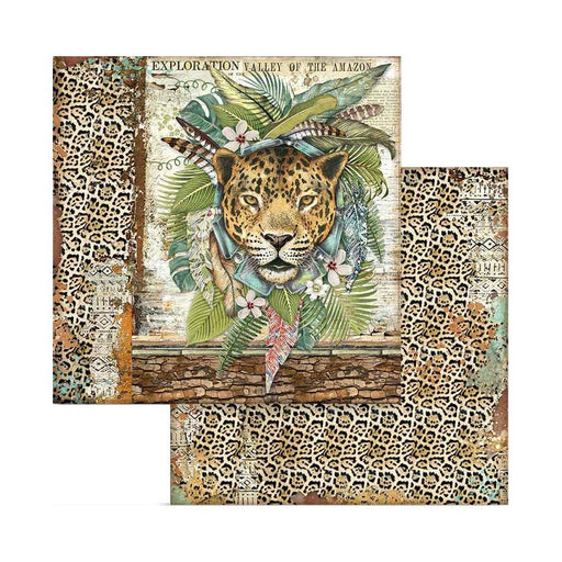 "Stamperia Amazonia 8""x8"" Double Sided Paper Pad (SBBS28)-Only One Life Creations"