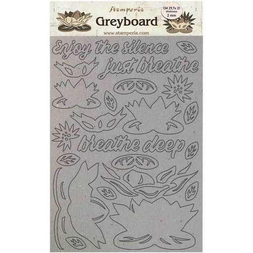 Stamperia Amazonia Greyboard Cut Outs: Water Lily (LSPDA420)-Only One Life Creations