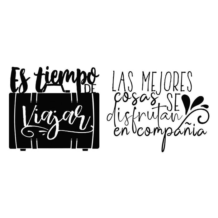 Stamperia Cling Stamps: Es Tiempo De Viajar, by Johanna Rivero (WTKJR12)-Only One Life Creations
