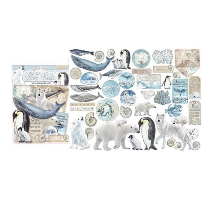 Stamperia Die Cuts: Artic Antartica (DFLDC19)-Only One Life Creations