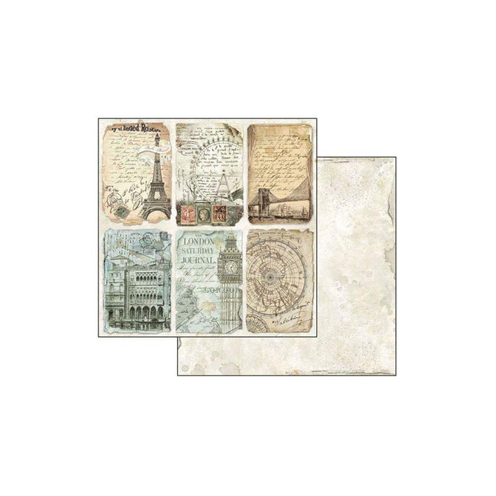 "Stamperia Double-Sided Paper Pad 8""X8"" 10/Pkg: Around the World (SBBS12)-Only One Life Creations"