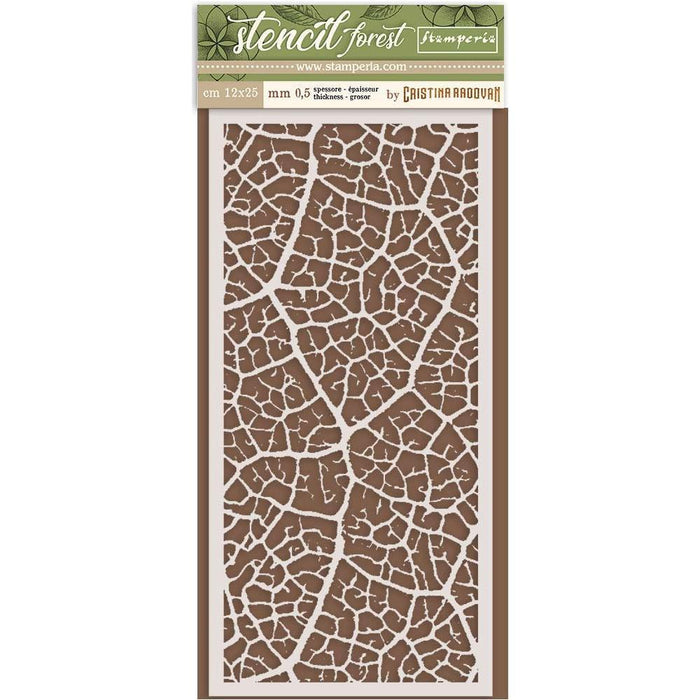 "Stamperia Stencil 4.72""x9.84"": Leaf (KSTDL33)-Only One Life Creations"