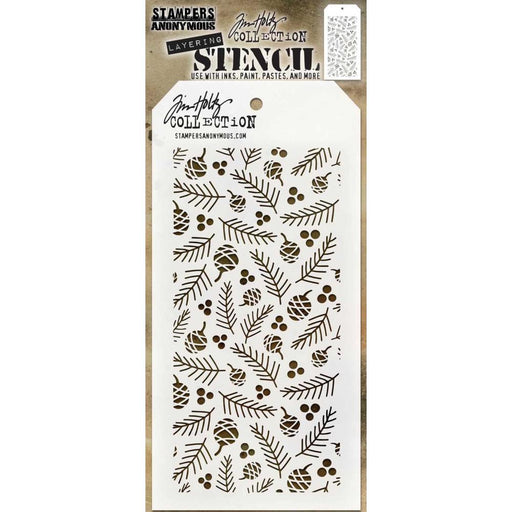 "Tim Holtz 4""x8.5"" Layered Stencil: Gatherings (THS152)-Only One Life Creations"