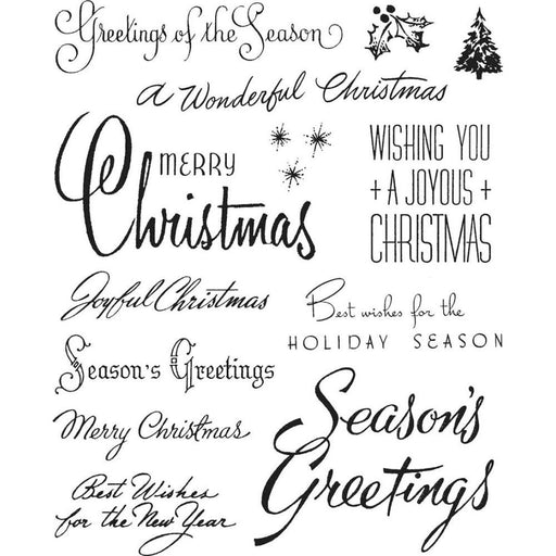 "Tim Holtz 7""x8.5"" Cling Stamp: Christmastime #3 (CMS427)-Only One Life Creations"