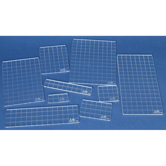 Tim Holtz Acrylic Stamping Grid Blocks, 9/Pkg (GBXL)-Only One Life Creations