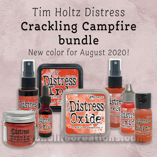 Tim Holtz Distress: Crackling Campfire, 8 Product Bundle (August 2020)-Only One Life Creations