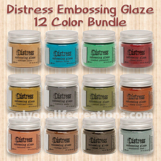 Tim Holtz Distress Embossing Glaze, 12 Color Bundle (January 2020)-Only One Life Creations