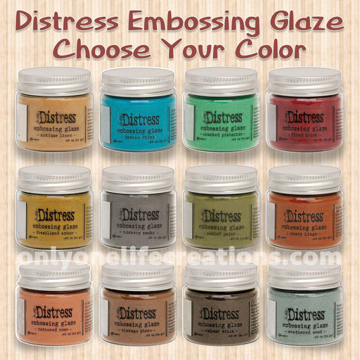 Tim Holtz Distress Embossing Glaze, Choose Your Color (January 2020)-Only One Life Creations