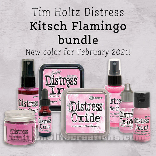 Tim Holtz Distress: Kitsch Flamingo, 8 Product Bundle (February 2021)-Only One Life Creations