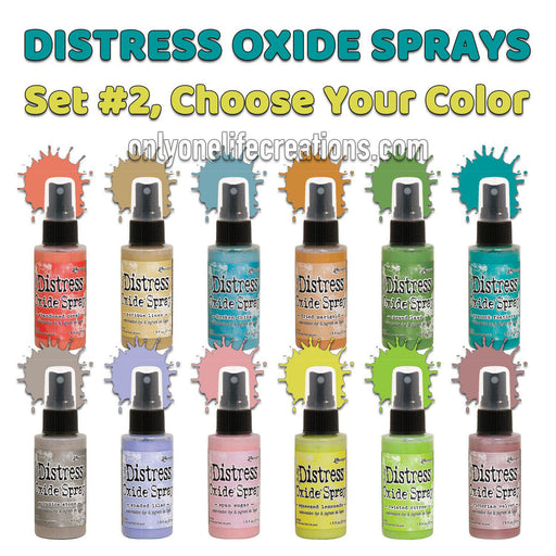 Tim Holtz Distress Oxide Spray, Choose Your Color from Set #2-Only One Life Creations