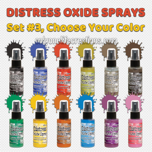 Tim Holtz Distress Oxide Sprays, Choose Your Color from Set #3-Only One Life Creations