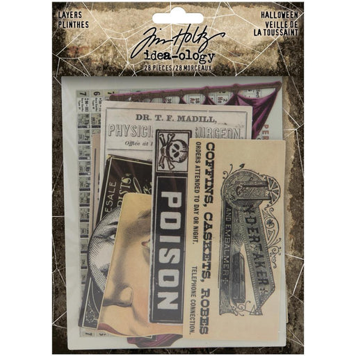 Tim Holtz Idea-Ology Layers: Halloween 28/Pkg (TH94076)-Only One Life Creations
