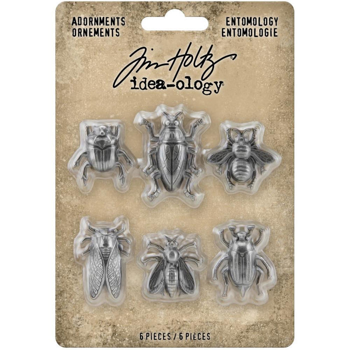 Tim Holtz Idea-Ology Metal Adornments: Entomology 5/Pkg (TH94079)-Only One Life Creations