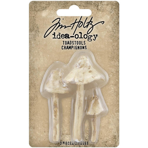 Tim Holtz Idea-Ology Resin: Toadstools 3/pkg (TH94082)-Only One Life Creations
