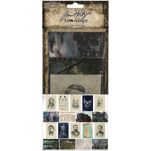 Tim Holtz Idea-Ology Vellum Embellishments: Vellum Haunts 18/Pkg (TH94075)-Only One Life Creations