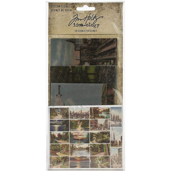 Tim Holtz Idea-ology Vellum Scenes 18/Pkg (TH94028)-Only One Life Creations