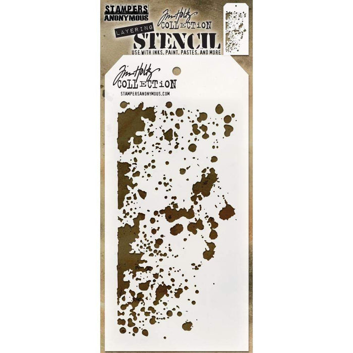 Tim Holtz Stencil: Grime, by Stampers Anonymous (THS130)-Only One Life Creations