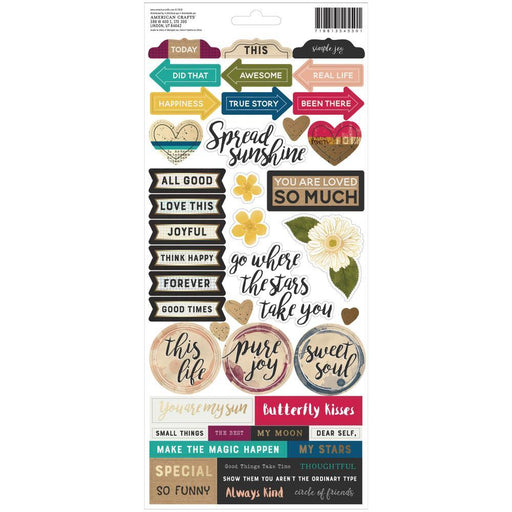 "Vicki Boutin 6""x12"" Storyteller Cardstock Stickers: Accents & Phrases, 93/pkg(VB001340)-Only One Life Creations"