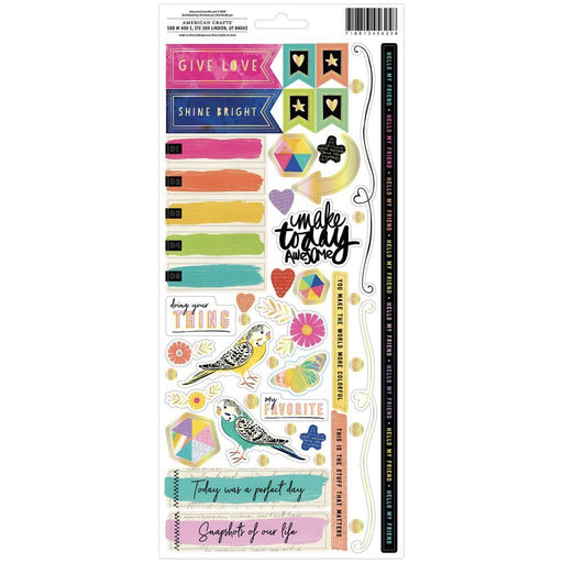 "Vicki Boutin Color Study Cardstock Stickers 6""X12"", 103/Pkg (VB005682)-Only One Life Creations"