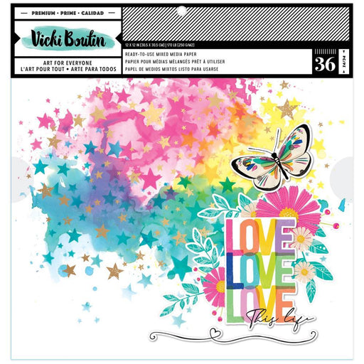 "Vicki Boutin Color Study Collection 12""x12"" Backgrounds Paper (VB005681)-Only One Life Creations"