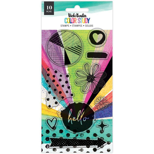 Vicki Boutin Color Study Collection Acrylic Stamps: Hello (VB005691)-Only One Life Creations
