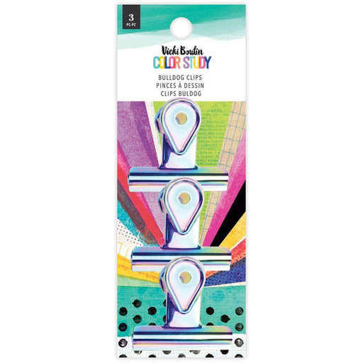 Vicki Boutin Color Study Collection Bulldog Clips: Iridescent 3/pkg (VB005699)-Only One Life Creations