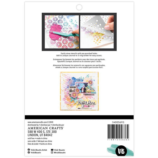 Vicki Boutin Color Study Collection Stencils: Bubbles 3/pkg (VB005693)-Only One Life Creations
