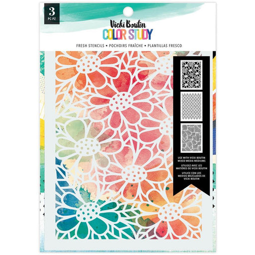 Vicki Boutin Color Study Collection Stencils: Fresh 3/pkg (VB005692)-Only One Life Creations