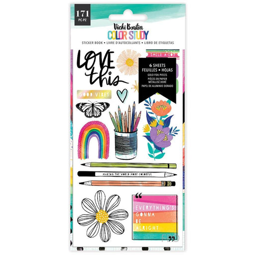Vicki Boutin Color Study Collection Sticker Book: Gold Foil Accents 171/Pkg  (VB005690)-Only One Life Creations
