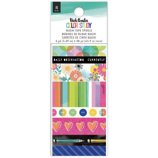 Vicki Boutin Color Study Collection Washi Tape 8/pkg (VB005688)-Only One Life Creations
