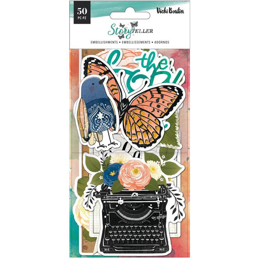 Vicki Boutin Storyteller Ephemera Cardstock Die-Cuts: Icon & Title (VB001342)-Only One Life Creations