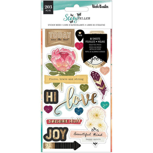 Vicki Boutin Storyteller Sticker Book: Icons, Phrases & Letters (VB001341)-Only One Life Creations