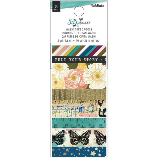 Vicki Boutin Storyteller Washi Tape, W/Gold Glitter & Gold Foil Accents(VB001345)-Only One Life Creations