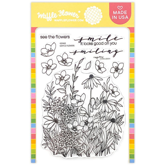 "Waffle Flower 4""x6"" Clear Stamps: Tender Blooms (420463)-Only One Life Creations"