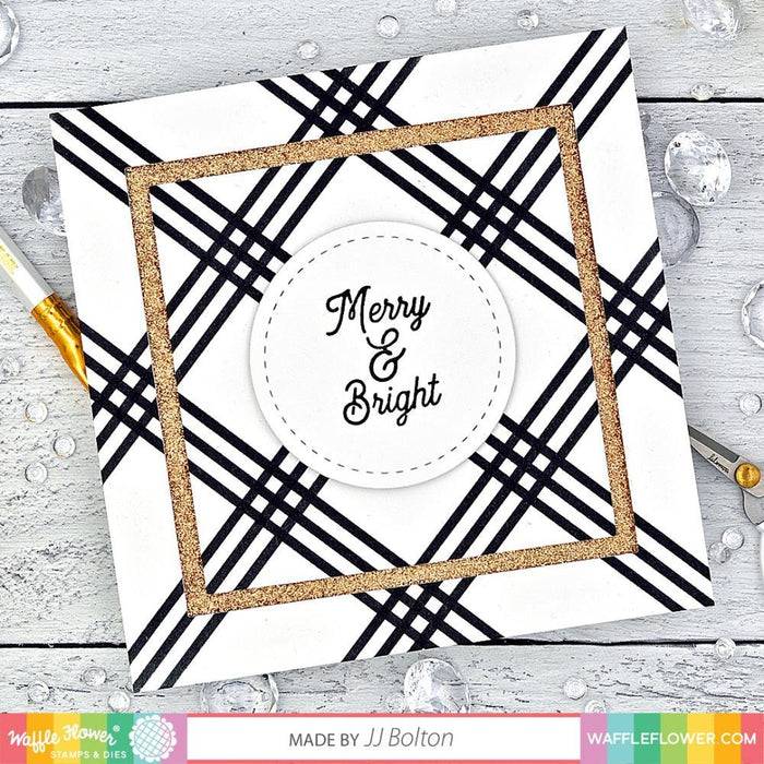"Waffle Flower 6""x9"" Stencil: Stripe Plaids Trio (WFS064)-Only One Life Creations"