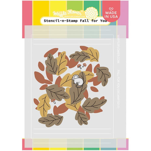 Waffle Flower Stencil and Stamp: Fall For You (WFS011)-Only One Life Creations
