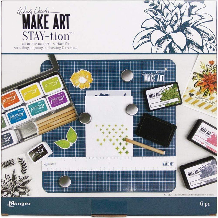 Wendy Vecchi 12X12 Make Art Stay-tion (WVA64626)-Only One Life Creations