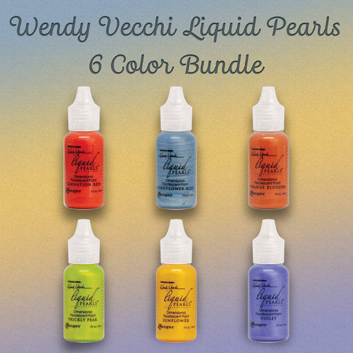 Wendy Vecchi Liquid Pearls, 6 Color Bundle (January 2020)-Only One Life Creations