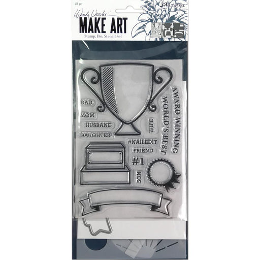 Wendy Vecchi Make Art Stamp, Die and Stencil Set: Award Winning (WVZ75158)-Only One Life Creations