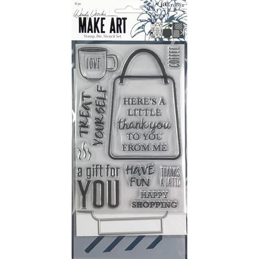 Wendy Vecchi Make Art Stamp, Die and Stencil Set: Let's Shop (WVZ75165)-Only One Life Creations