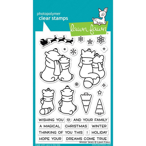 "Winter Skies Clear Stamps 4""X6"", by Lawn Fawn (LF1763)-Only One Life Creations"