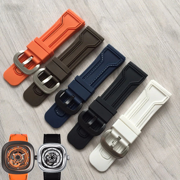 SevenFriday Watch Replacement Strap - Silicone Waterproof Wrist Strap