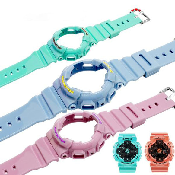 BABY-G WATCH REPLACEMENT STRAP - Rubber Silicone Bracelet Female Wristband