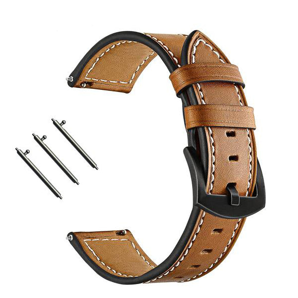 FOSSIL Q Replacement Strap - Real Cow Leather Watchband with Quick Release