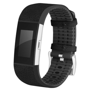 FITBIT CHARGE 2 REPLACEMENT STRAP - TPU Leather Band Strap Bracelet