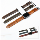 IWATCH REPLACEMENT STRAP - Oil Wax Leather Watch Strap - TimeLabStore